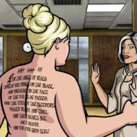 --- Archer -- And Pam's Lord Byron Back Tattoo