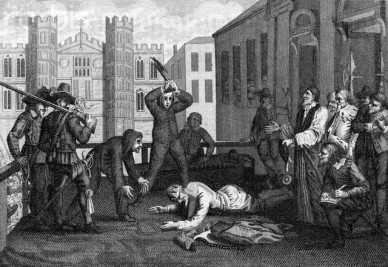 King Charles I Being Beheaded